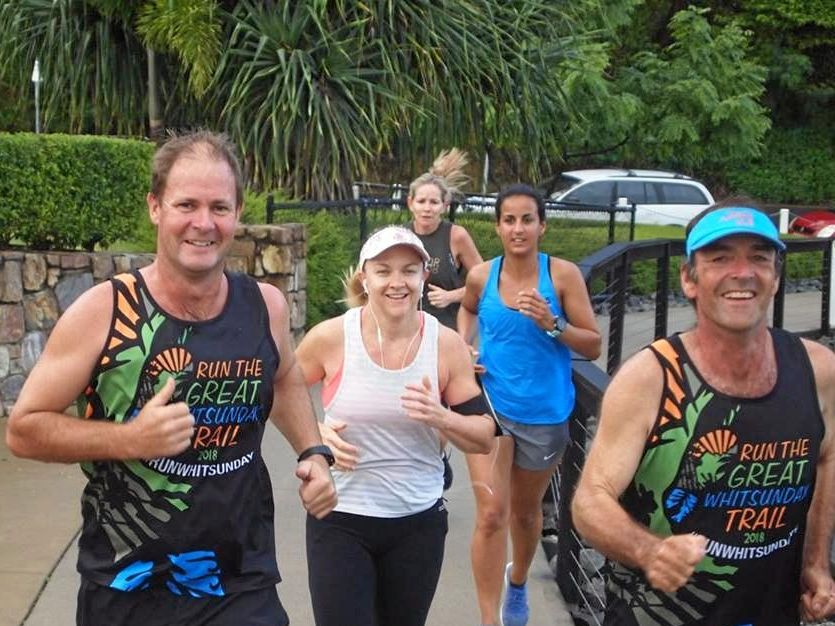 A bit of drizzle didn't dampen the moods of Airlie Beach parkrunners on Saturday morning.
