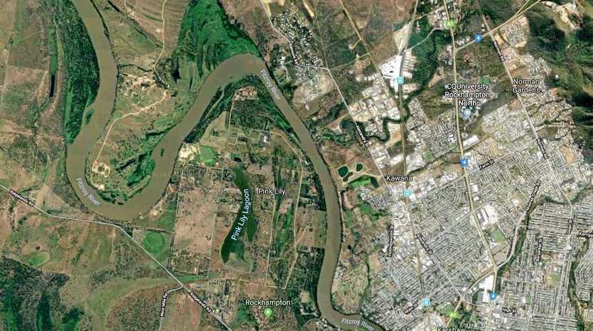 An aerial view of Rockhampton.