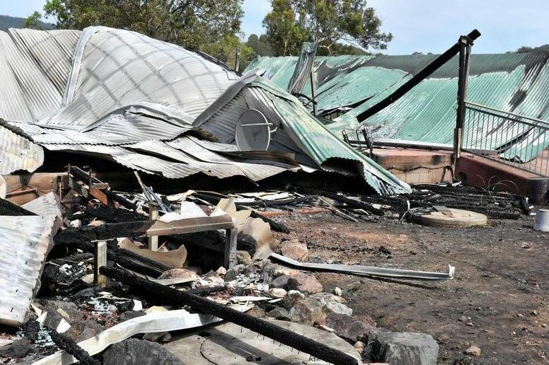 DEVASTATING: A Kandanga house burnt to the ground last night.