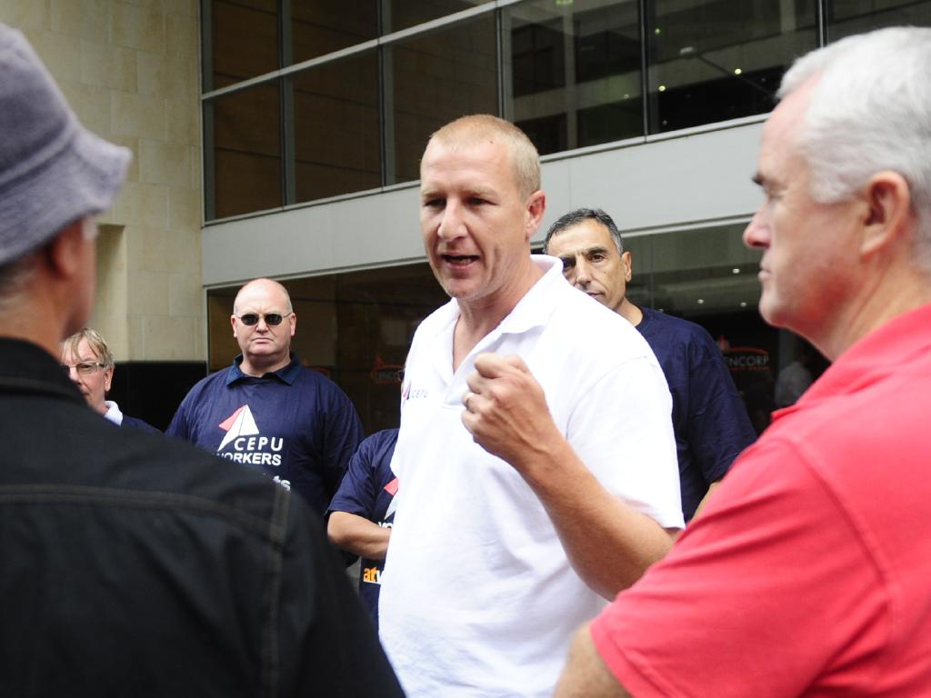 Communications, Electrical and Plumbing Union Official Shane Murphy said Telstra was trying to force workers to take a pay cut in real terms. Picture: Supplied