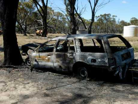 The car was completely burnt out. Picture: WA Police