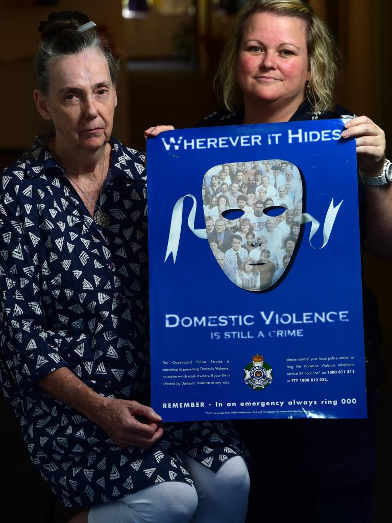 North Queensland Domestic Violence Resource Centre coordinator Pauline Woodbridge and Acting Sergeant Elise Feltham. Picture: Evan Morgan