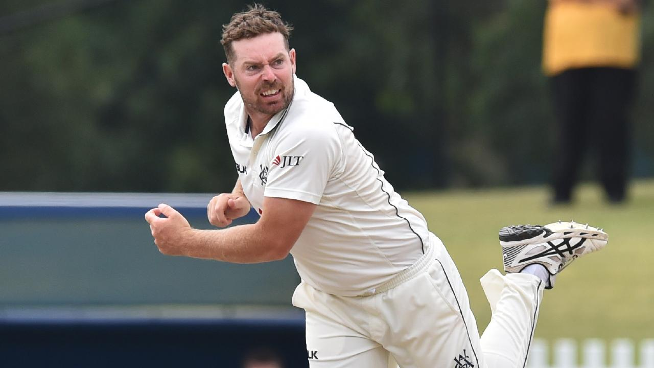 Spinner Jon Holland ripped through the NSW top order in Victoria's Sheffield Shield match against NSW. Picture: AAP