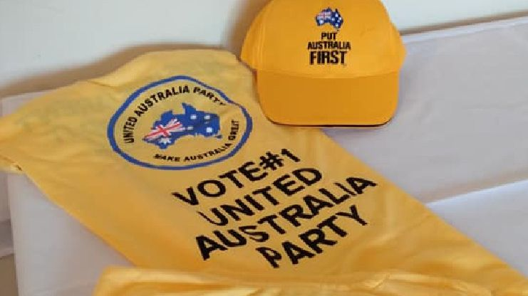 United Australia Party campaign merchandise. Picture: Facebook