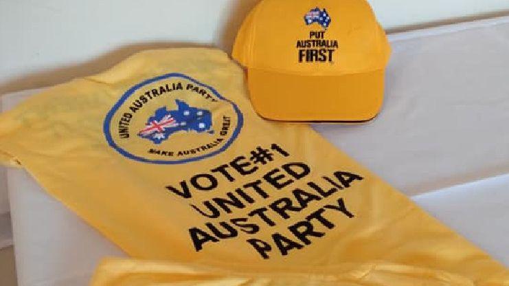United Australia Party campaign merchandise. Picture: Facebook