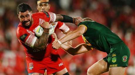 Tonga vs Australia took priority over surgery. Image: Anthony Au-Yeung/Getty Images.