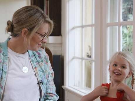 Mum Eliza Seward with Greta who had the procedure as a baby. Picture: SBS