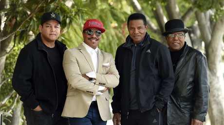 Marlon Jackson, Jackie Jackson, Tito Jackson and Tito's son Taj Jackson. Picture: Chris Pizzello/Invision/AP