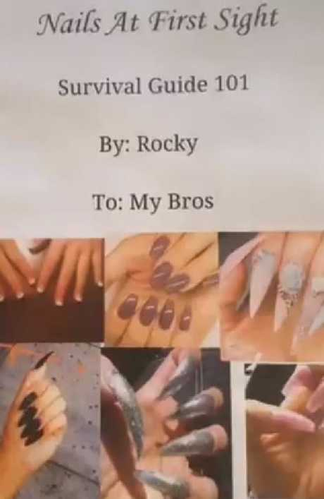 This dating 'survibal guide' is based purely on a woman's nails and is hilariously called 'Nails At First Sight'.