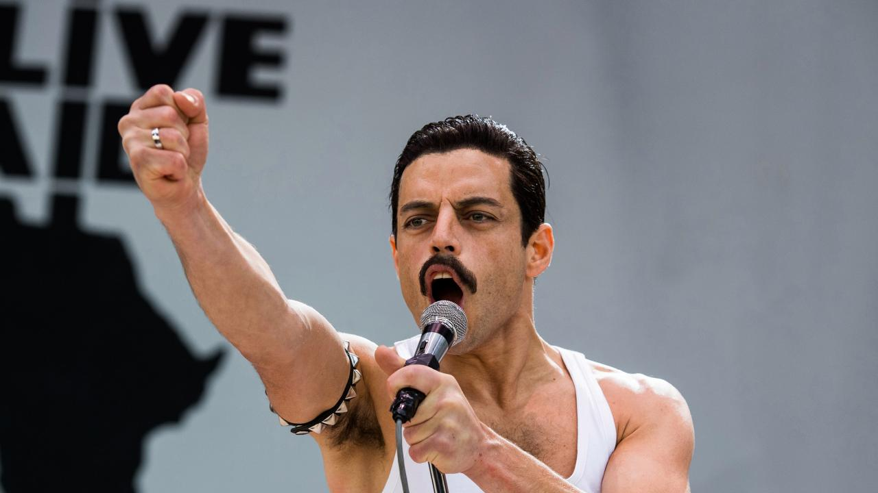 Rami Malek stars as Freddie Mercury in Bohemian Rhapsody. Picture: Alex Bailey.
