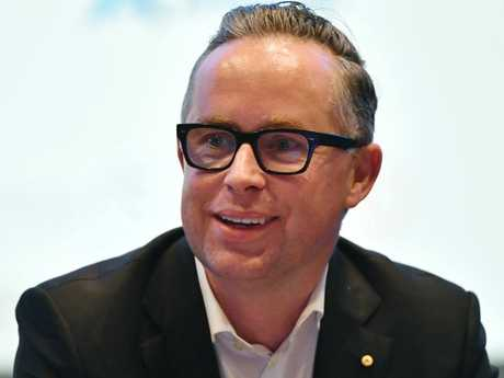 Qantas CEO Alan Joyce at the Australian Financial Review Business Summit in Sydney, Wednesday, March 6, 2019. Picture: AAP
