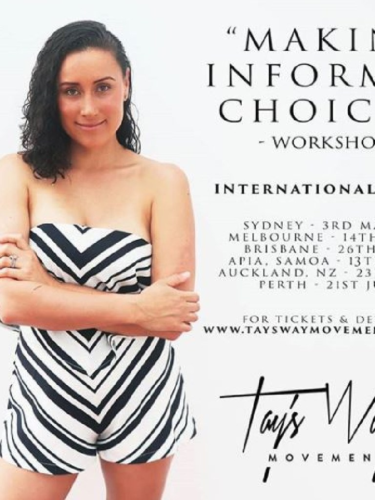 Taylor Winterstein, wife of Manly Sea Eagles player Frank Winterstein, runs an anti-vax blog.
