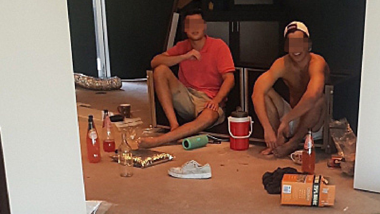 Five men were busted living, partying and drinking inside a luxurious Sydney mansion. Picture: Supplied