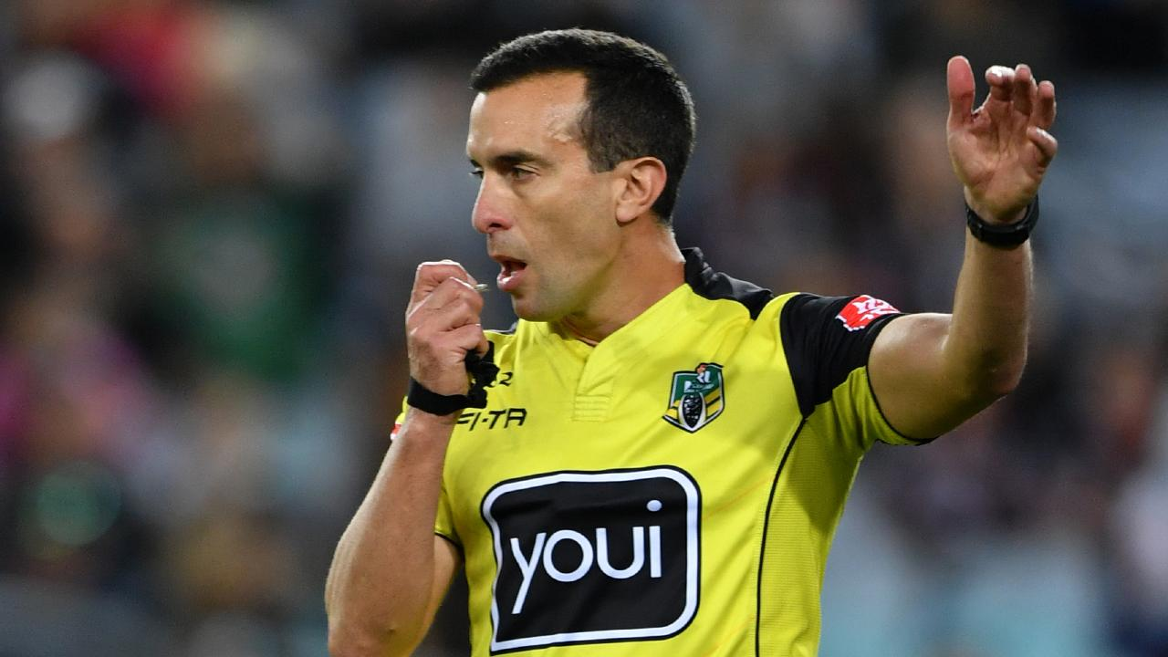 Matt Cecchin and other referees have been the subject of the unrelenting criticism from internet trolls. Picture: Joel Carrett/AAP