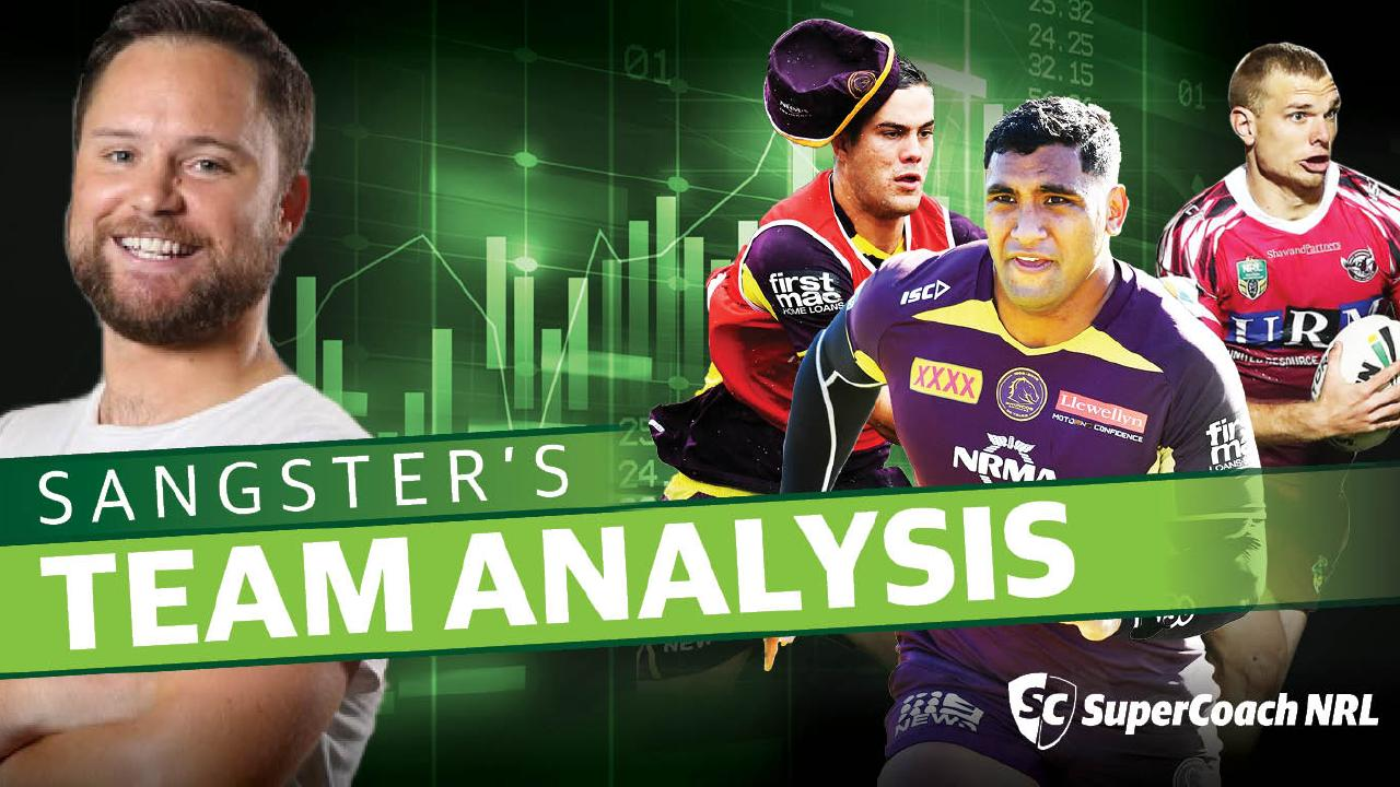 Tom Sangster's team analysis for Round 1.
