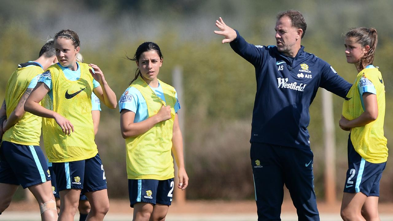 Stajcic was sacked as Matildas coach in January. Picture: Octavio Passos/Getty Images