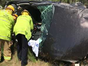 Car rollover at Tuan Forest