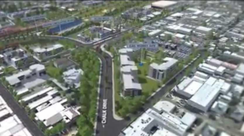 The Toowoomba Railway Parklands Priority Development Area (artist's impression). Photo Contributed