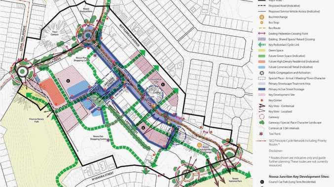 Framework map of Noosa Junction in the draft Noosa Plan.