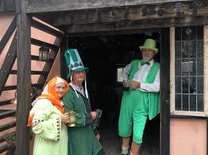 Villagers bring on medieval calendar with St Pat's fayre