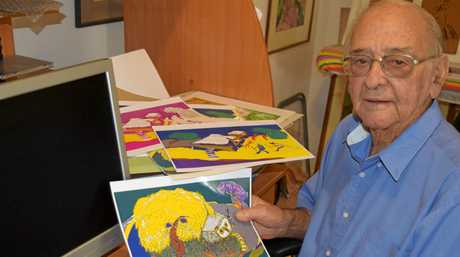 Maryborough artist George Kirk was introduced to the digital art age by his grand daughters.