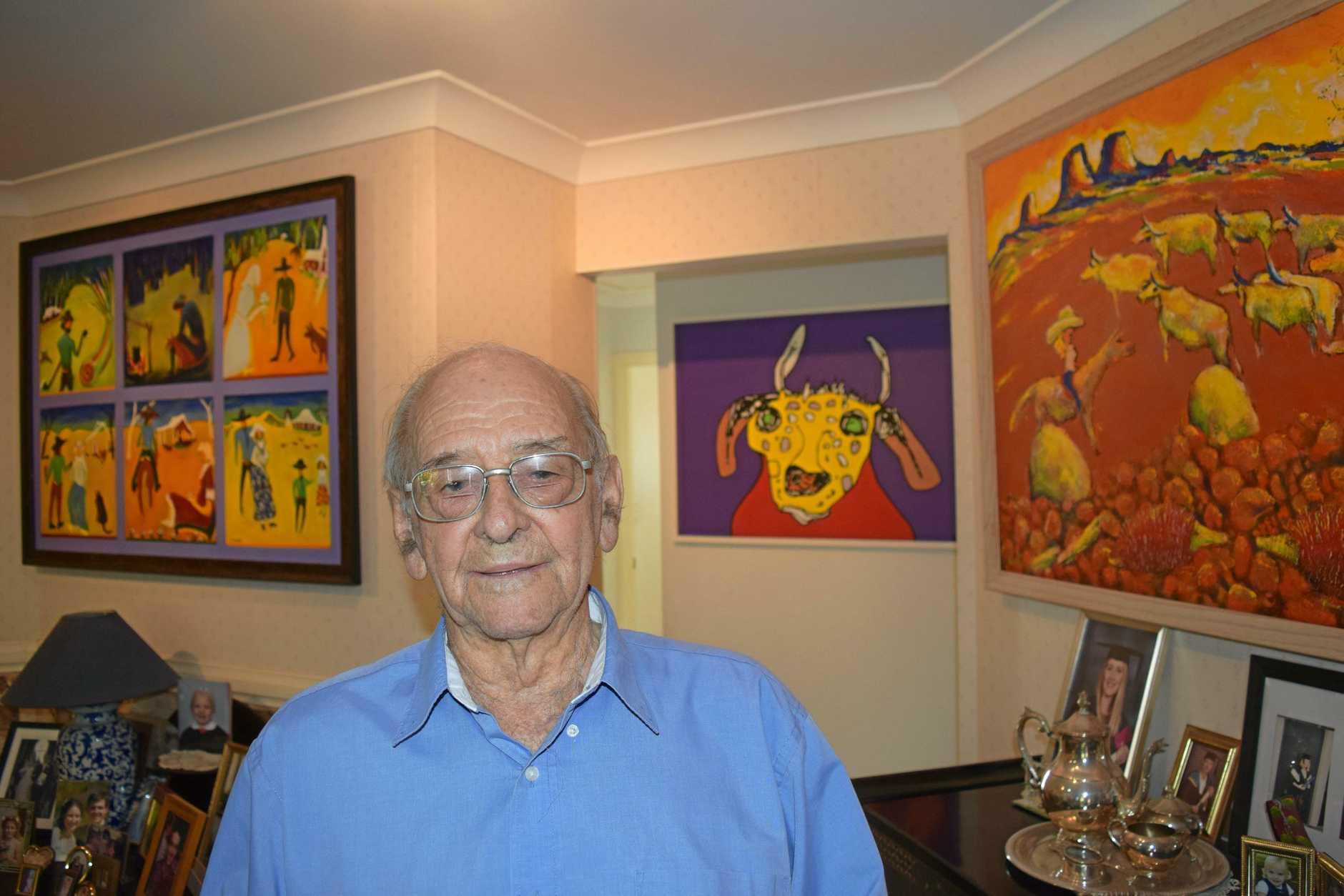 George Kirk displays his work throughout his home in Maryborough.