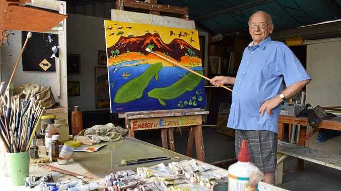 Maryborough artist George Kirk loves working with all mediums but acrylics would be his favourite.