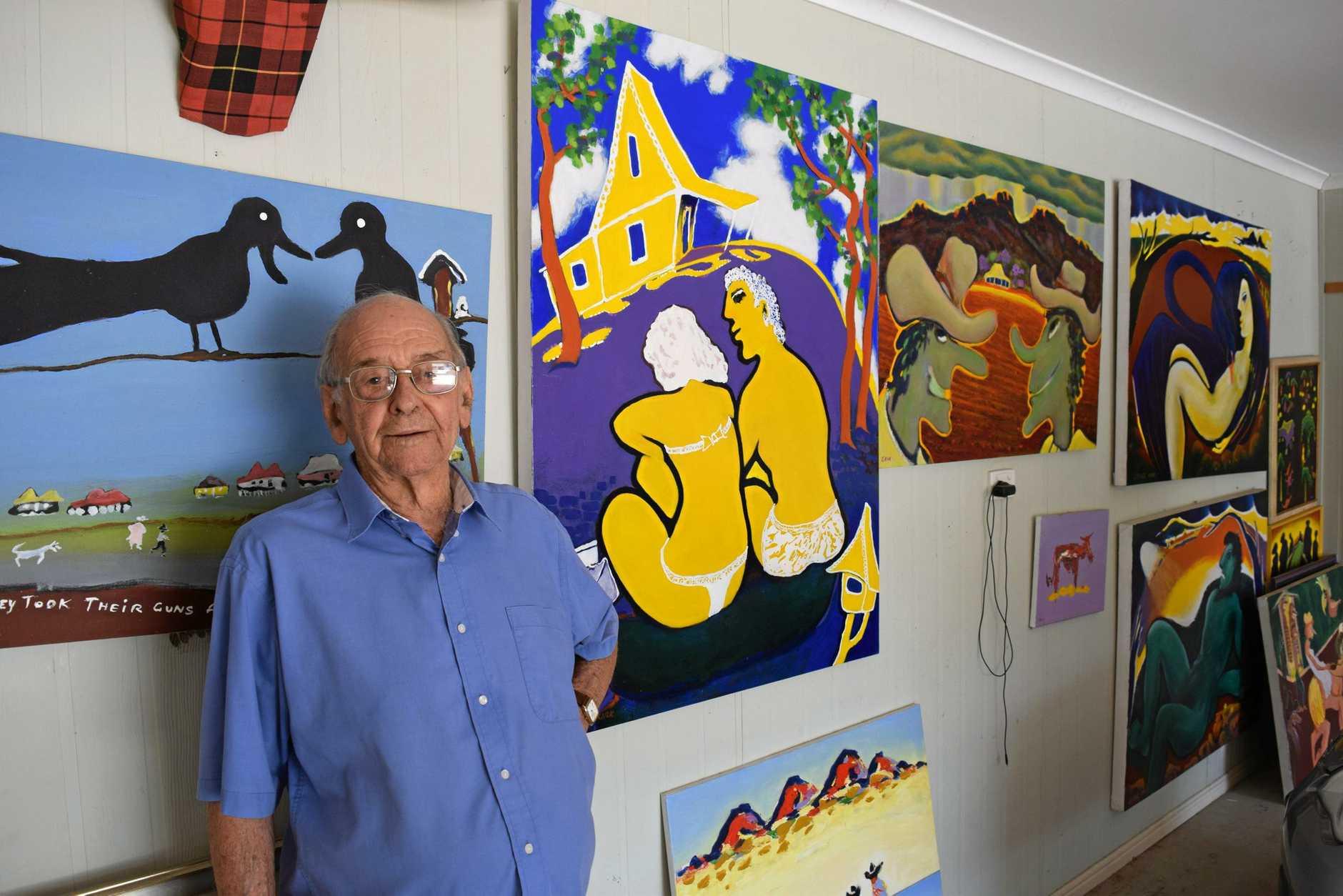 George Kirk displays his work throughout his home.