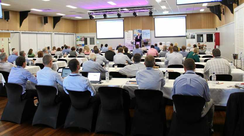 COMPLETE ATTENTION: Attendees from around the Western Downs and further listening to one of the many quality speakers at the Intensive Animal Industry Conference hosted by TSBE Food Leaders Australia in Dalby on Thursday March 7.