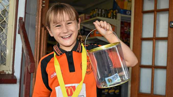 LITTLE ATHLETE: Isla Mawar is collecting donations for her trip to Townsville at Blue Teapot Cafe and Bellevue Hotel in Coominya.