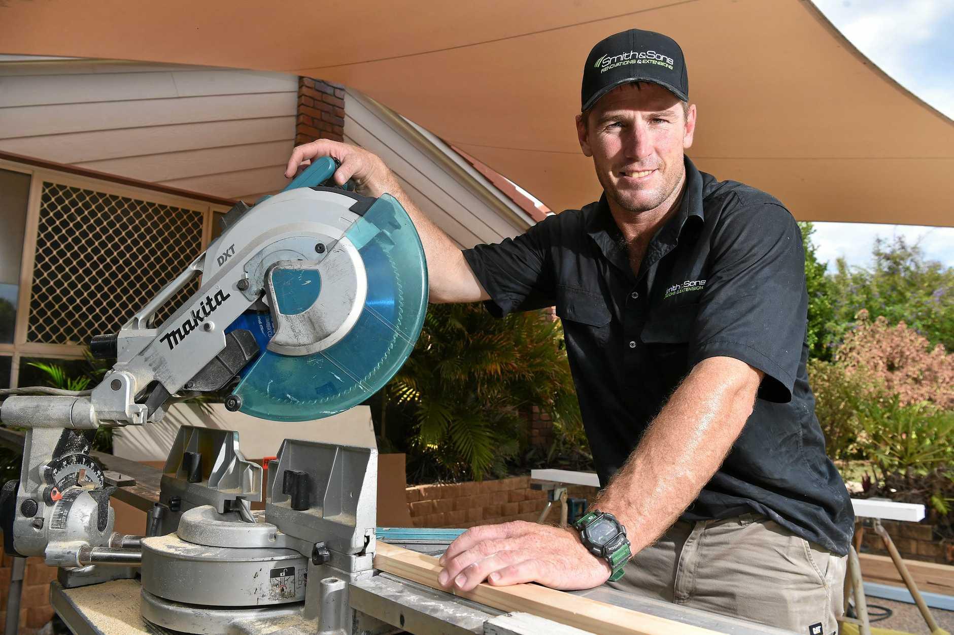 Matt is using his skills  renovating a house at Minyama.
