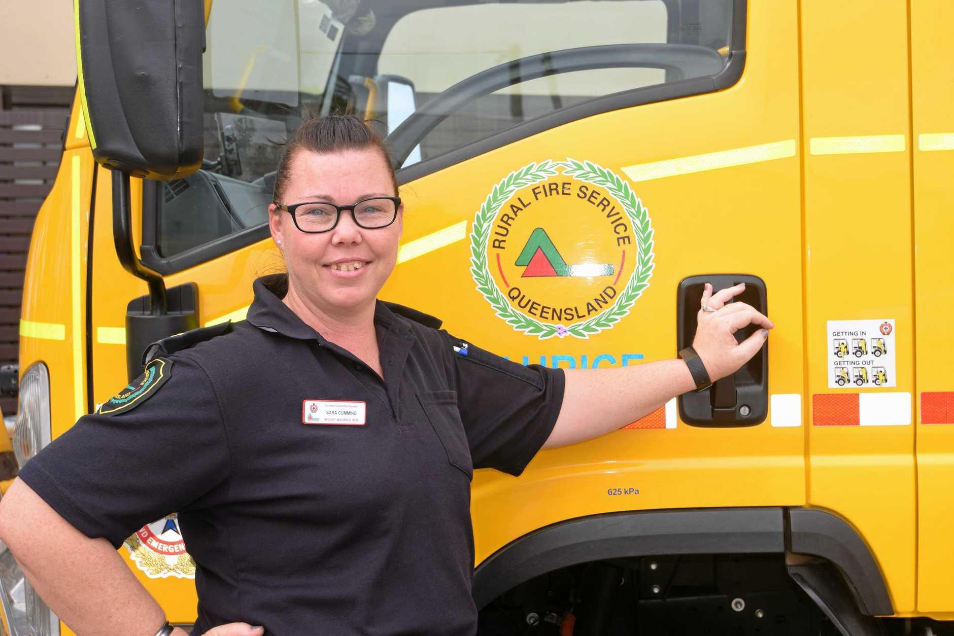 ENCOURAGING: Mount Maurice RFS firefighter Sara Cumming.