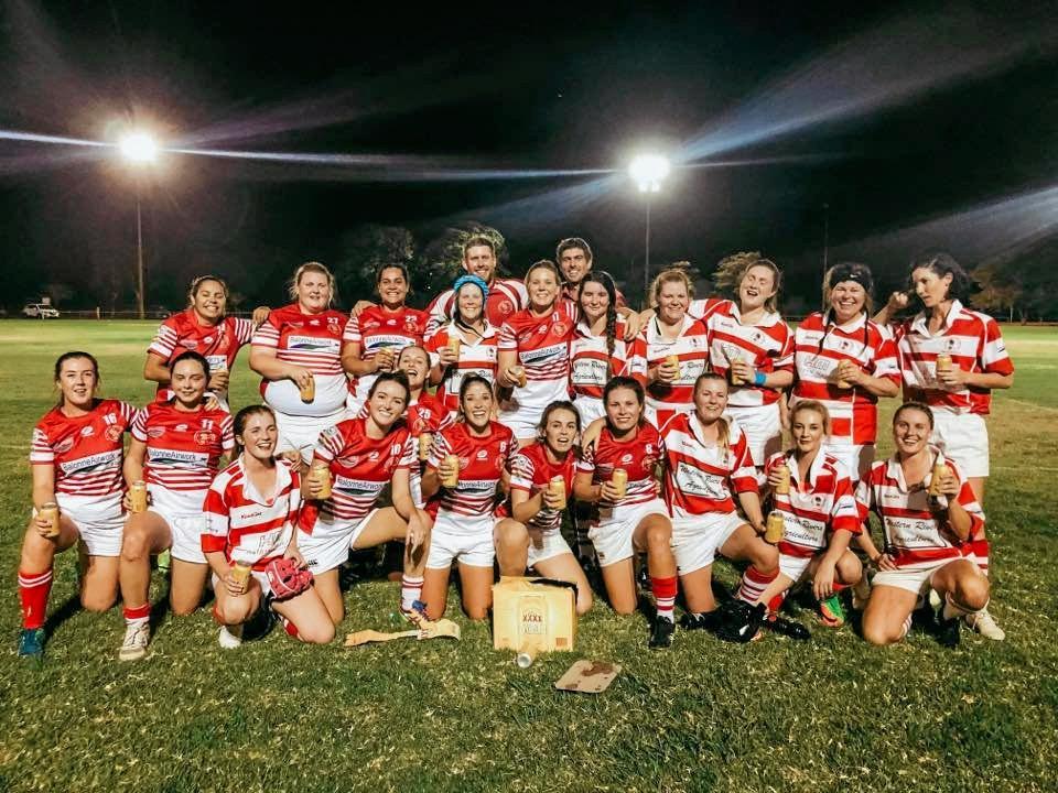 SEVENS HEAVEN: St George Frillnecks women's team.
