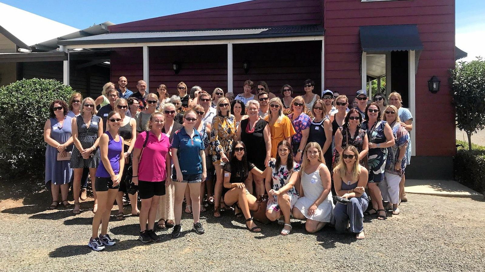 Attendees of Orange Queen hopeful Bree Roth's South Burnett winery tour fundraiser.