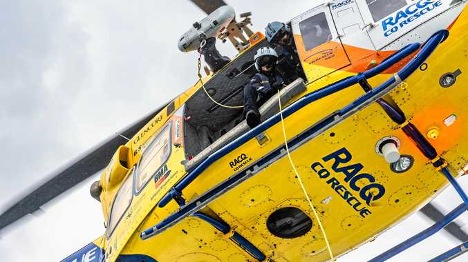 The RACQ CQ Rescue team attended a call out after a stockman fell from his horse while mustering.