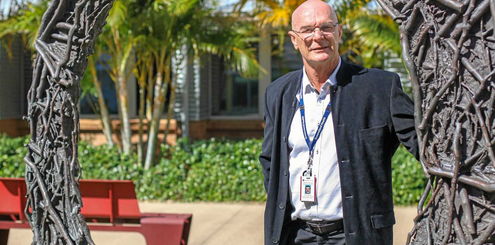 Mackay Hospital and Health Services research and innovation executive director Dr David Farlow.