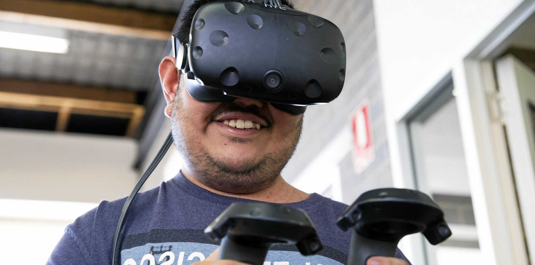 The virtual reality technology at Cannonvale Learning and Lifestyle hub allows people with an intellectual disability to learn life skills.