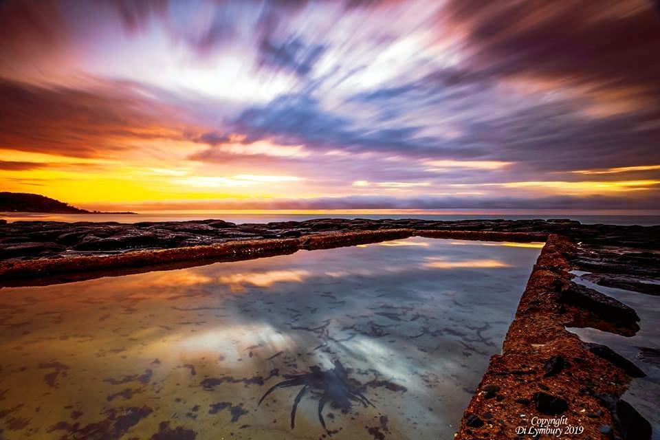 Di Lymbury took this photo at sunrise at Shelly Beach, Ballina.