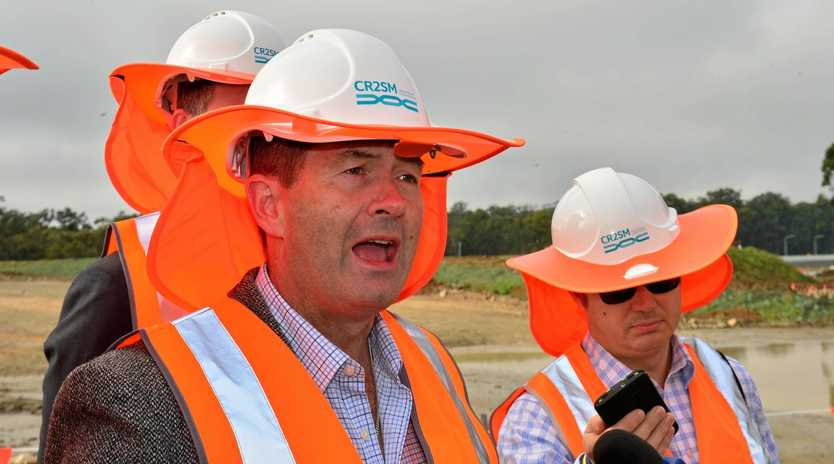 Member for Fisher Andrew Wallace refused to start mud slinging over the rail duplication.