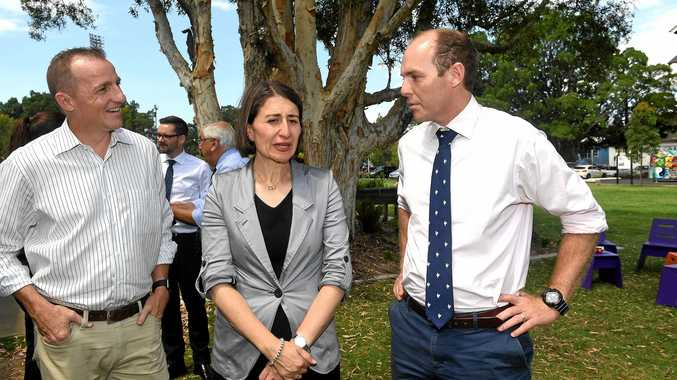 NSW Premier Gladys Berejiklian visits Lismore with Nationals candidate Austin Curtin and Lismore mayor Isaac Smith promising $1.5 million to revitalise the CBD.