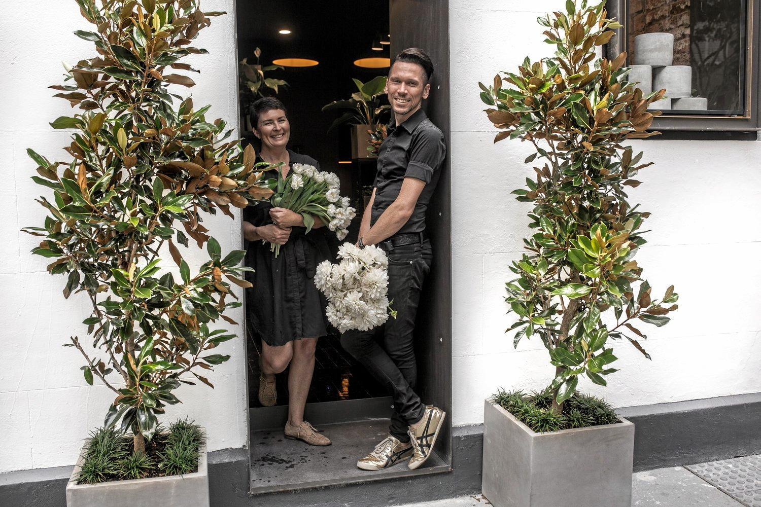 WINNERS ARE GRINNERS: Bundaberg's Bart Hassam claimed first place at the Florist World Cup in Philadelphia.