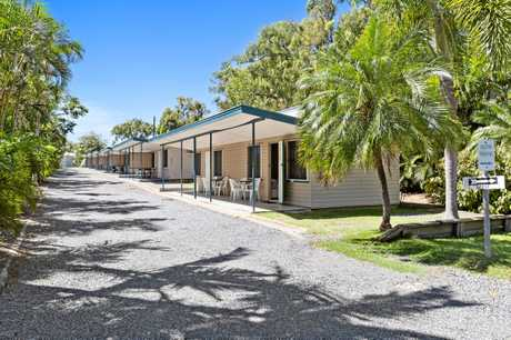 Poinciana Tourist Park has 103 sites, including 12 cabins and 21 permanent residences, as well as 12 non-powered and 58 powered caravan sites.