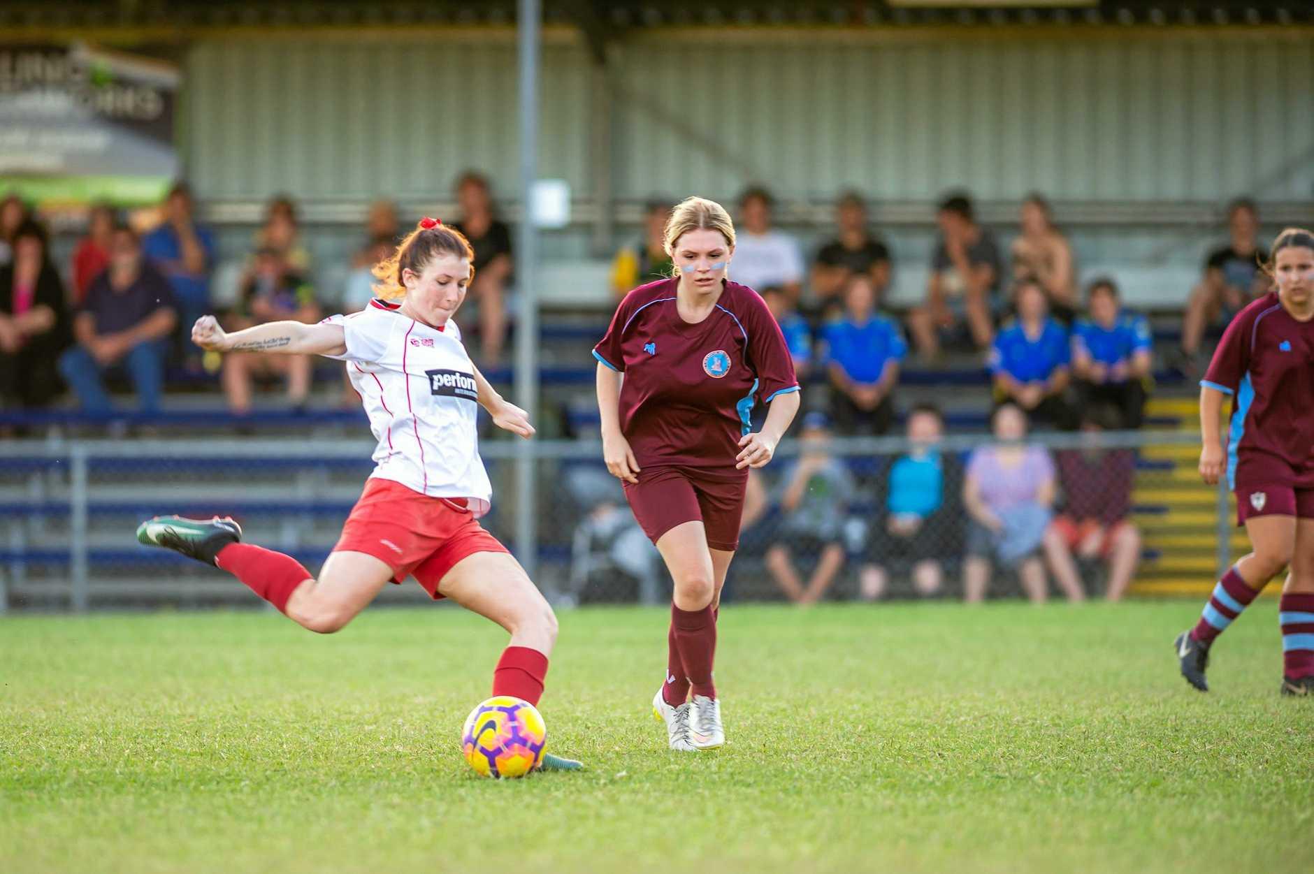 WINNER WINNER: Gympie Lions player Jaidyn Dennien took out the player of the final award in her futsal side's 10-6 futsal grand final win on Monday.