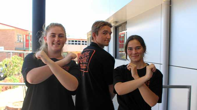 Amelia Fueller Ben Mananhan and Skyie McCosker are saying no way to bullying.