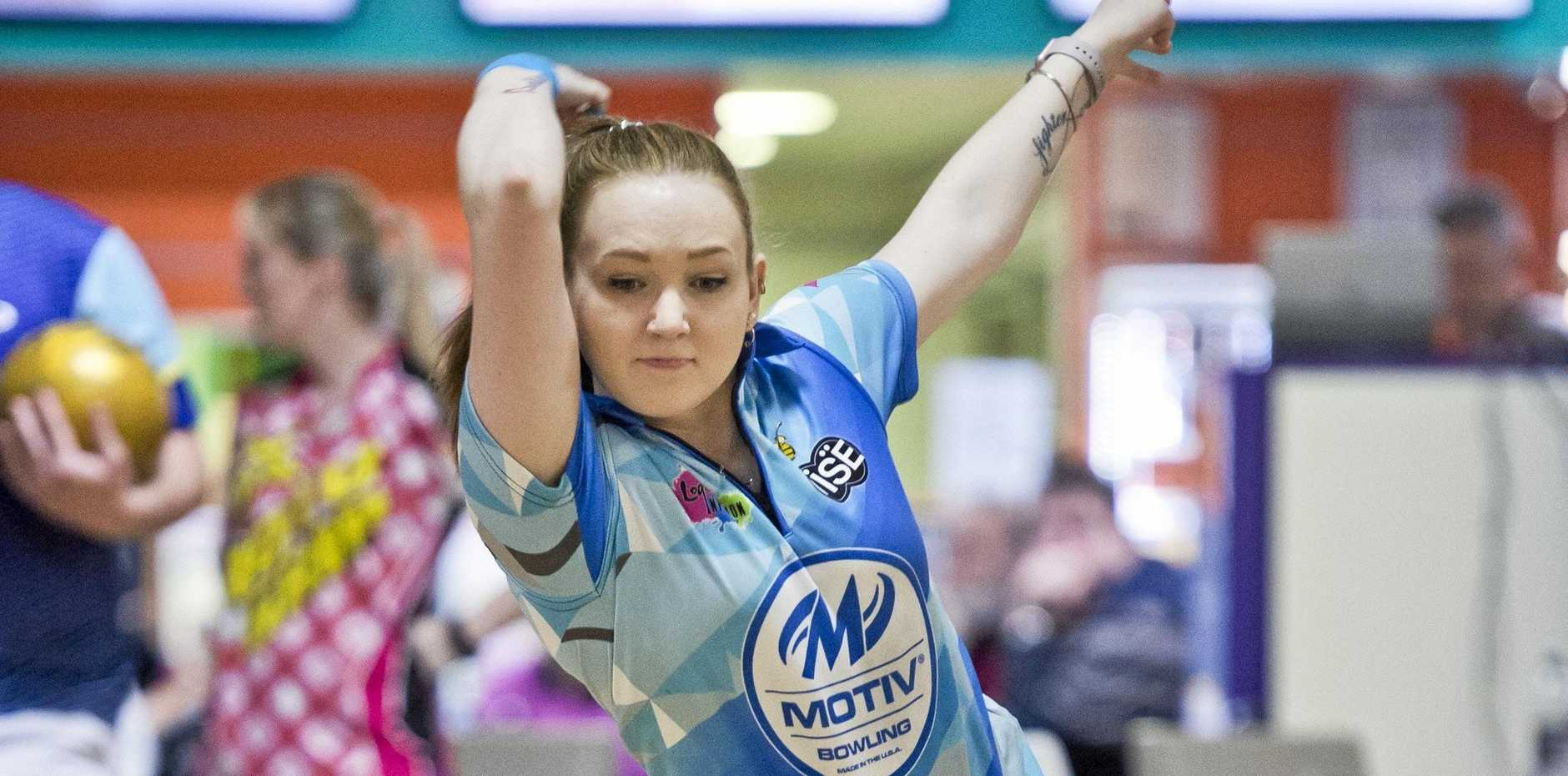 ON A ROLL: Gabrielle Vettiger sends down a shot during the Tenpin Bowling Association of Queensland adult state championships at Sunset Superbowl last year.