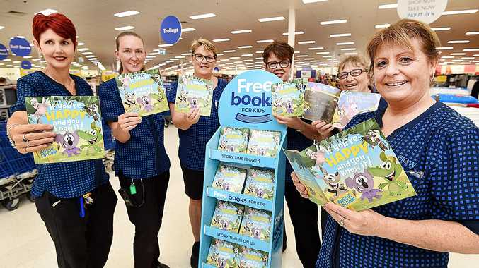FLYING OFF THE SHELF: Big W staff Teresa Cannon, manager Val Gibbons, Melody Olsson, Roxy Fonseka, Cath Bellingham and Kerry Hunjas are looking forward to seeing more children read during the free book offer.