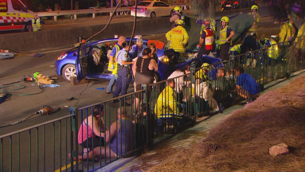 Paramedics treated a number of injured people. Picture: Active Media Images