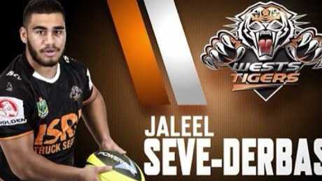Jaleel Seve-Derbas was a former Wests Tigers junior.