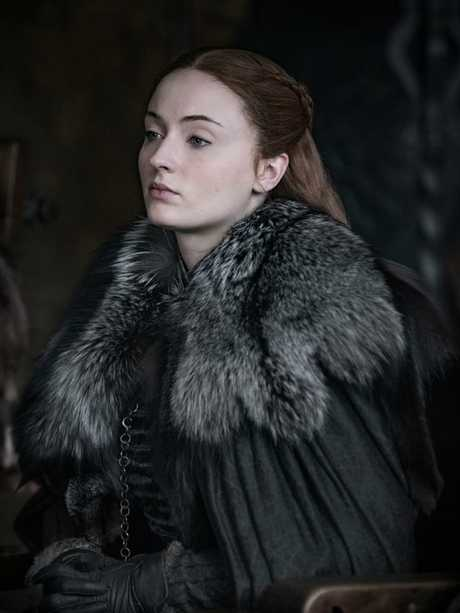 First look at The Final Season (8) of Game of Thrones Sophie Turner as Sansa Stark — Photo: Helen Sloan/HBO