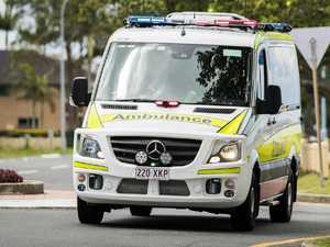 Paramedics treat patient after Tiaro car crash